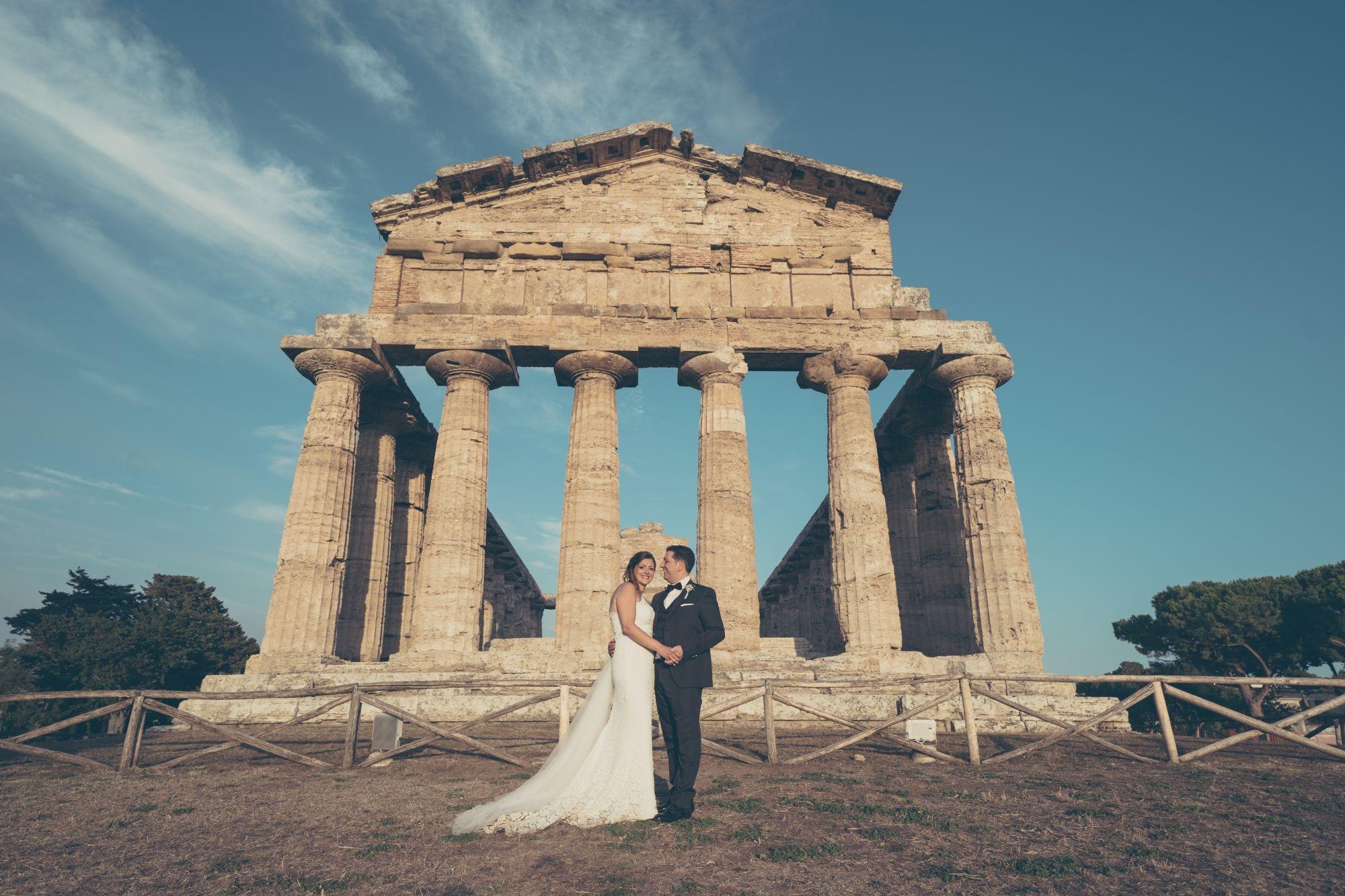 ROMANTIC WEDDING AT PAESTUM, ITALY
